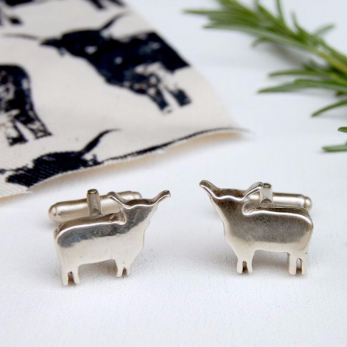 Highland Cow Cufflinks